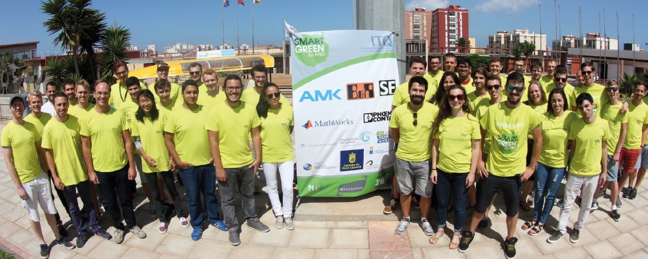 Teilnehmer des Smart Green Island Makeathons 2016.