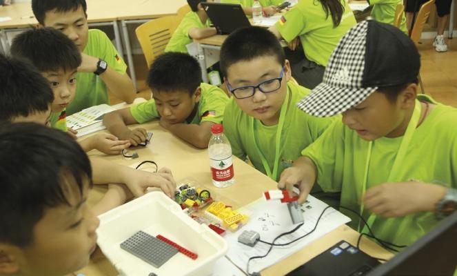 Workshop mit Kindern China.