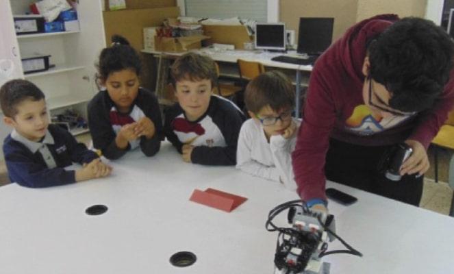 Workshop mit Kindern Spanien.